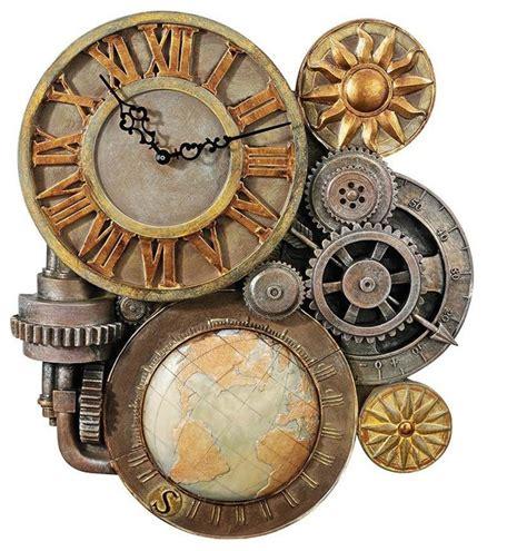 traditional wall clock design toscano 17 5 quot deco industrial decorative