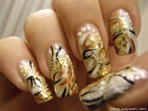 gold nail design me my nails amp i