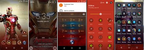 theme line android marvel dark version port cm12 1 s6 marvel aveng android