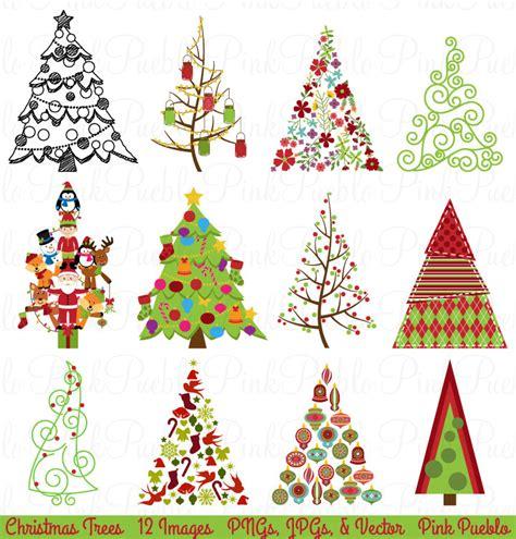 M M Decorations Art Deco Christmas Tree Clip Art 59