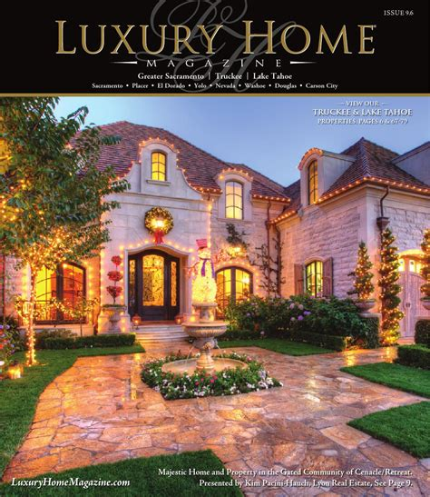 luxury home magazine sacramento lake tahoe issue 9 6 by
