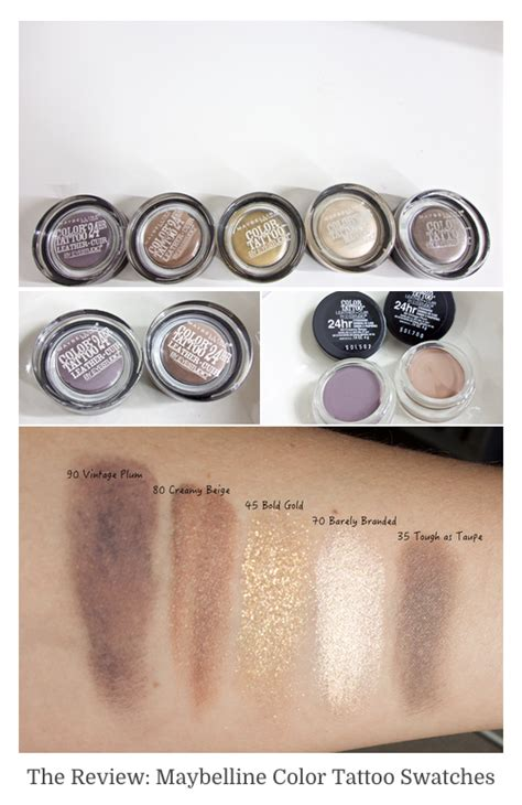 maybelline color swatches maybelline color eyeshadows swatches