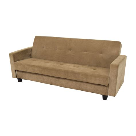 Second Futon by 42 Brown Tufted Futon And Side Arms Sofas