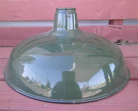 Vintage Gas Station Island Lights Vintage Nos Green Porcelain Pendant Shades Industrial Gas Station Barn Light Ebay