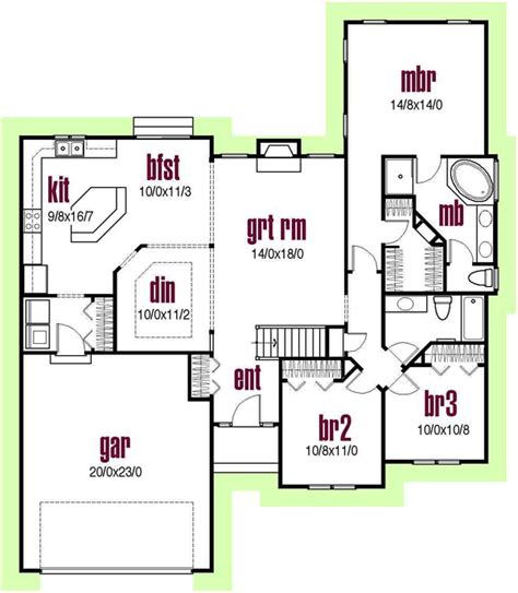 monster house plans com ranch style house plans 1700 square foot home 1 story
