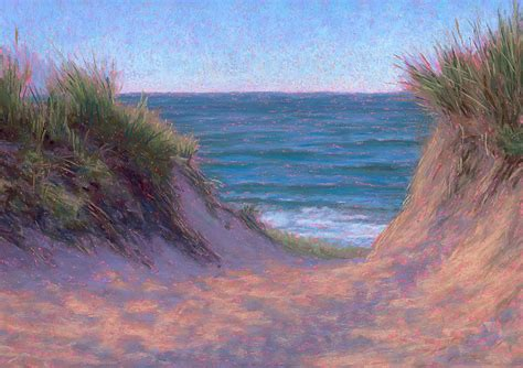 pastel painting june cape cod path pastel painting - Pastel Painters Of Cape Cod