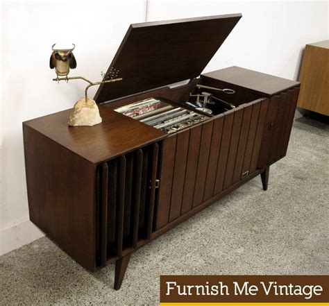 record player stereo cabinet mid century modern zenith ml2670 3 stereo console record