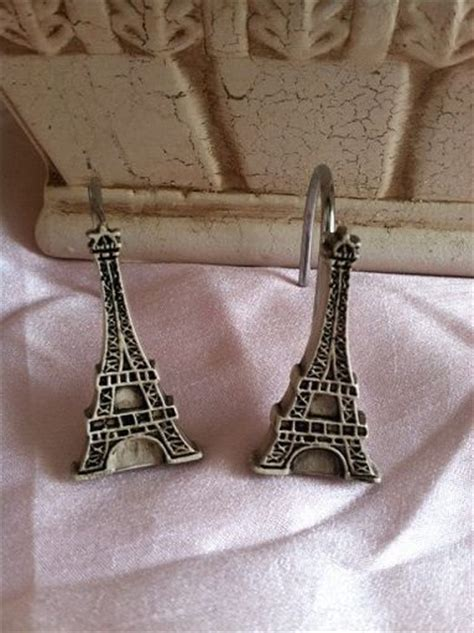 eiffel tower shower curtain rings shower curtain hooks eiffel towers and shower curtains on