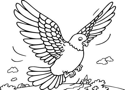 Coloriage Pigeon En Vol 224 Imprimer Sur Coloriages Info Dessin Gratuit Coloriage L