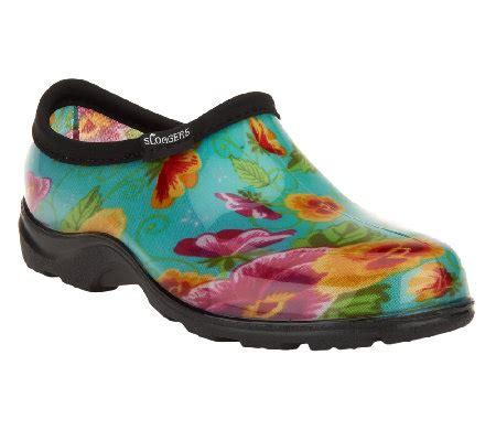 garden shoes sloggers waterproof pansy garden shoes w comfort insoles