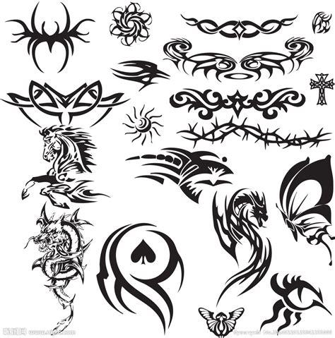 纹身图案矢量素材矢量图 花边花纹 底纹边框 矢量图库 昵图网nipic com