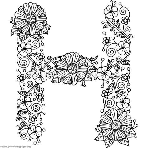 letter h coloring pages floral alphabet letter h coloring pages getcoloringpages org