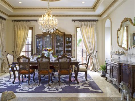 formal dining room rugs serenity in design fresh drapery treatments