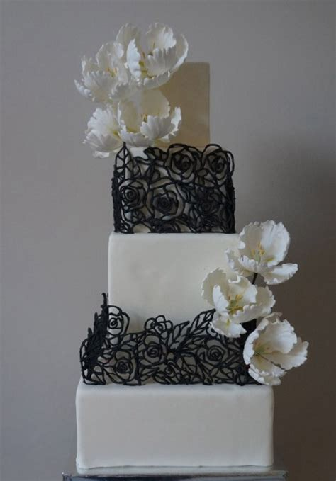 Square Wedding Cake by Square Wedding Cakes Cakecentral