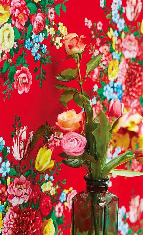 Tapisserie Kitch by Papier Peint Vif 224 Larges Bouquets De Fleur Boh 234 Me