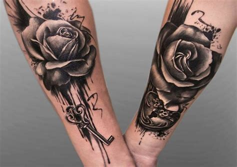 couple rose tattoo 30 beautiful couple matching tattoos ideas