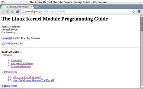 tutorial linux kernel programming hello raspberry pi free online ebook the linux kernel