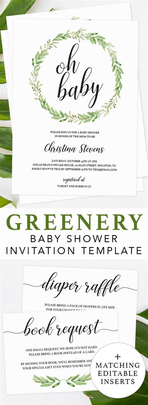 Best 25 Green Baby Showers Ideas On Pinterest Baby Boy Favors Decorations For Baby Shower Baby Invitation Template