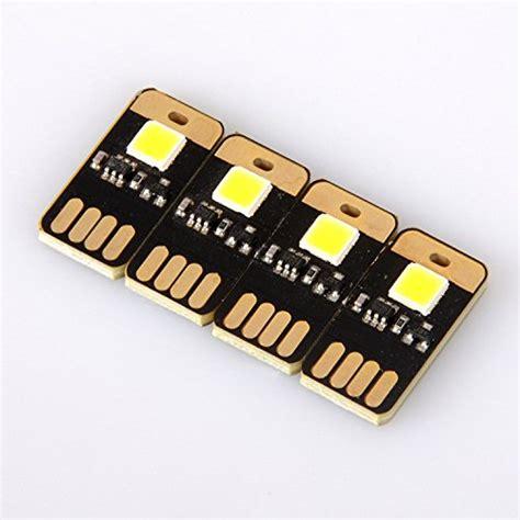 Ultra Safe 4pcs yitee 174 4pcs usb light keychain bright white