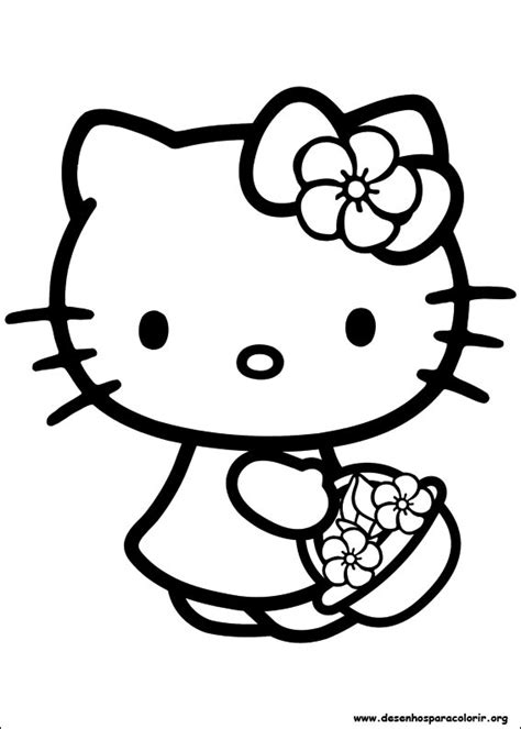 lulu kitty coloring pages hello kitty para colorir