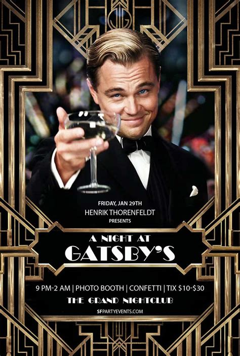 gatsby s henrik presents events a night at gatsby s the grand