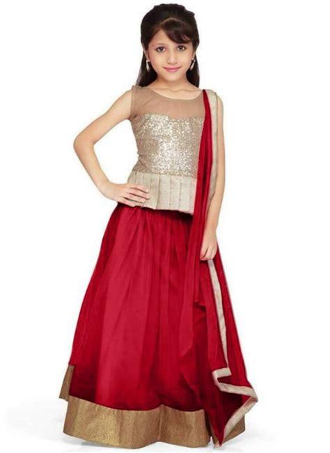 Occasional Dresses For Weddings Fashion Amp Style Kids Child Baby Girls Wear Lehenga Choli Sharara Dress Design Catalogue 2015