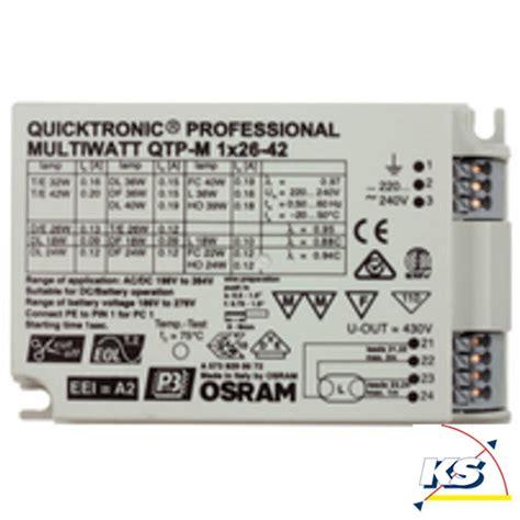 ks licht u elektrotechnik gmbh osram qtp m 1x26 42 220 240 s u osram ks licht