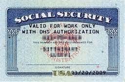 getting a social security card current f 1 international