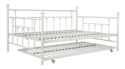 White Metal Trundle Bed Frame White Metal Trundle Bed Frame Within 6 Eye Catching Decor Ideas
