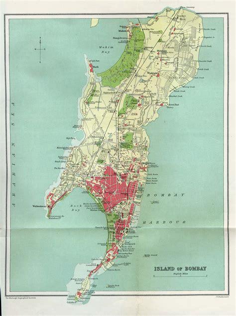 Mapa de la Ciudad de Bombay (Mumbai), India 1909
