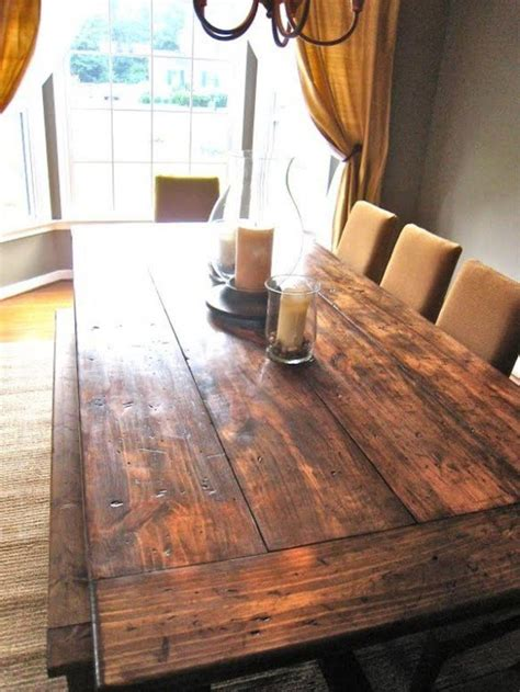 how to make a diy farmhouse dining room table