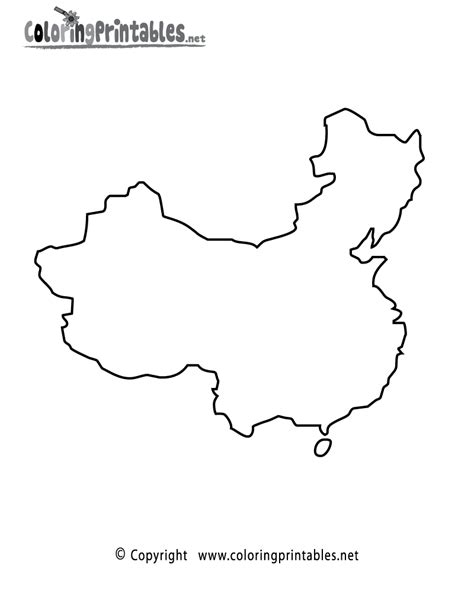 china map coloring page a free travel coloring printable