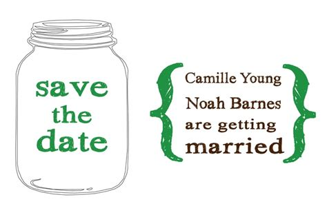 Free printable save the date card