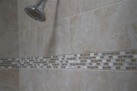 glass shell tile mosaic tile shower