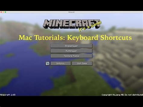 mac tutorial keyboard shortcuts minecraft keyboard shortcuts minecraft mac tutorials