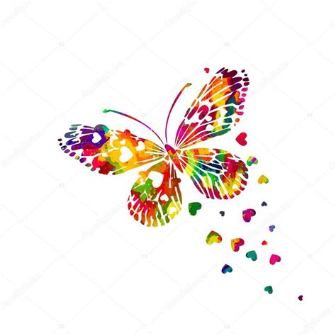 imagenes de mariposas abstractas colorida mariposa acuarela abstracta vector de stock