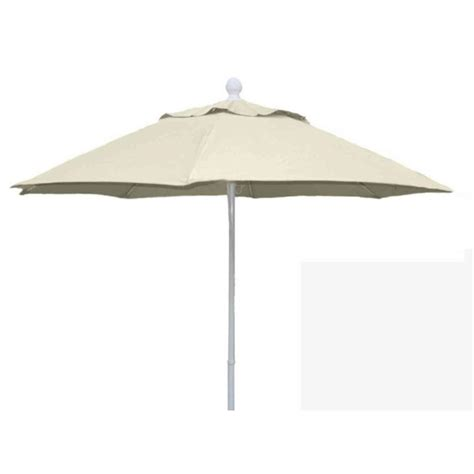 11 Patio Umbrella Fiberbuilt Umbrellas 11 Ft Aluminum Patio Umbrella In Linen Marine Grade Acrylic 11lppa 4633