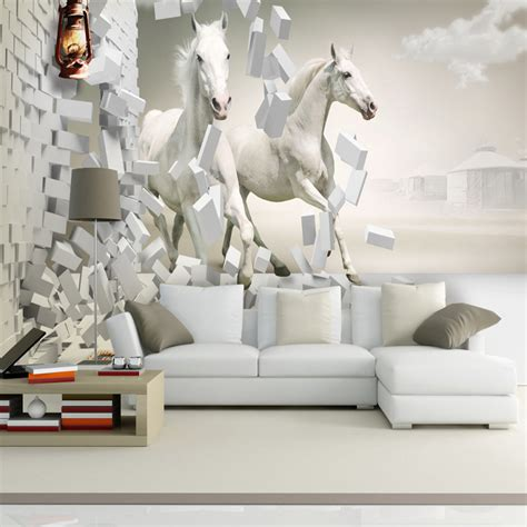 horse wallpaper for bedrooms free shipping 3d mural tv room sofa backdrop wallpaper