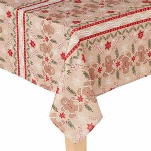 St nicholas square gingerbread man christmas tablecloth fabric table