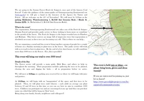 Tree Planters Notes by Annual Tree Planting Day Invitation