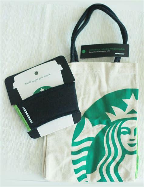 Starbucks Set Korea Bag And Stirrer Cherry Blossom only korea starbucks 2011 collection cup sleeve mini eco