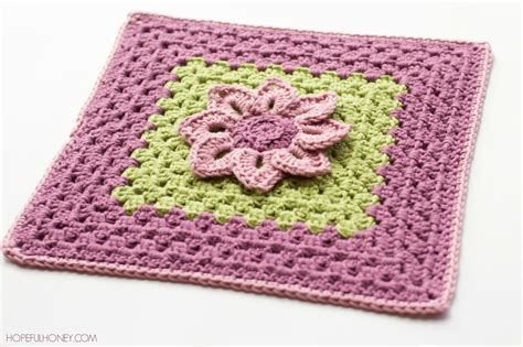 crochet pattern in square water lily afghan square interweave