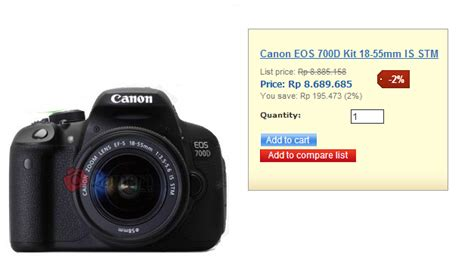 Kamera Canon 700d Indonesia co id toko kamera murah di indonesia www 60
