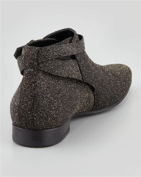 laurent sparkly jodhpur boot in black lyst