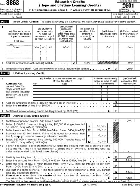 Education Credit Tax Forms Publication 970 Tax Benefits For Higher Education Illustrated Exle