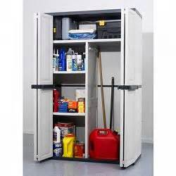 workforce bi fold resin utility cabinet 46 5 quot w x21 quot d x71