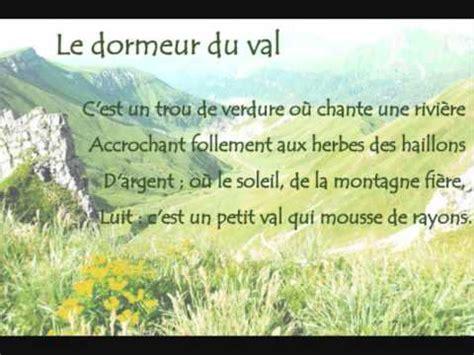 Poème Dormeur Du Val by Le Dormeur Du Val By Arthur Rimbaud