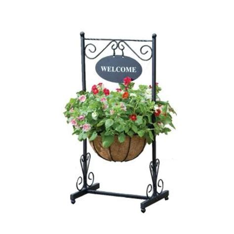 Welcome Garden Planter by Rainbow Garden Products 17 In Metal Blacksmith Welcome