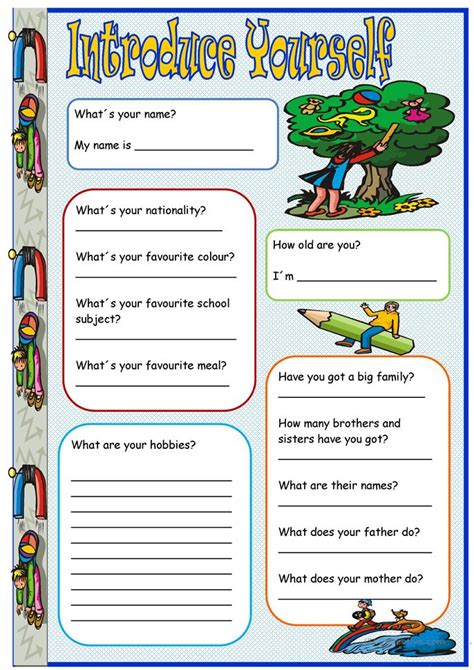 Esl Introducing Yourself Worksheet by 16 Free Esl Introduce Yourself Worksheets