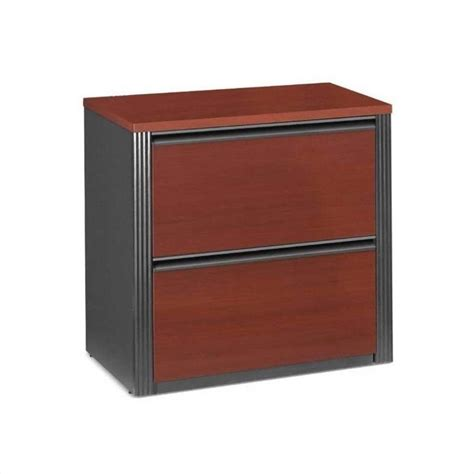 Two Drawer Lateral File Cabinet Bestar Prestige 2 Drawer Lateral Wood File Bordeaux Filing Cabinet Ebay